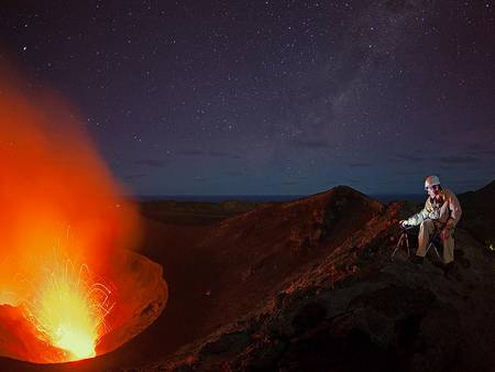 """Who has not dreamt of travelling around the world? Volcano Discovery makes this dream come true. You'll follow a knowledgeable, enthusiastic volcanologist on an """"ever westward journey"""" to explore some of the most exciting volcanoes of the planet."""